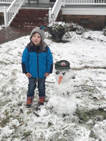 3-year-old Clyde Sellers enjoys the snow