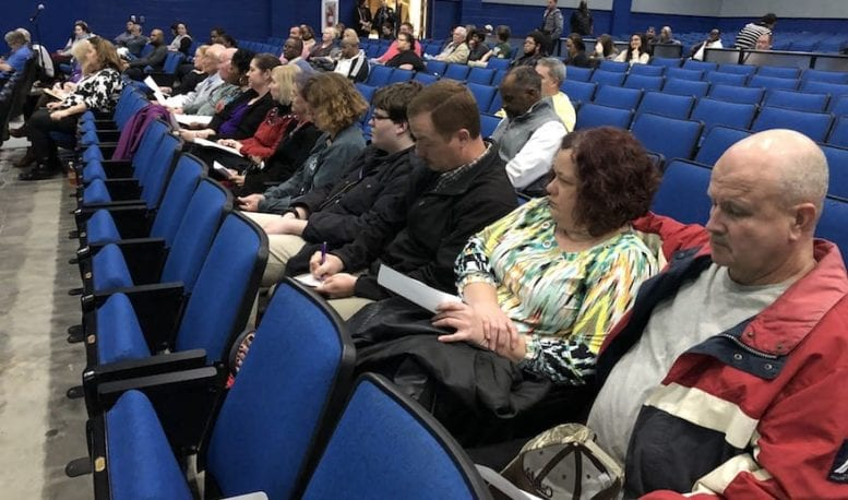 Small crowd hears consolidation plans at WCHS