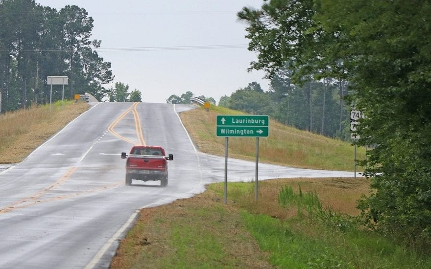 A bridge over U.S. 74 is meant to lower the risk of crashes and reduce congestion