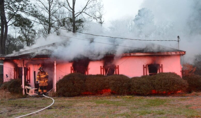 One person hospitalized after fire consumes house in south Whiteville