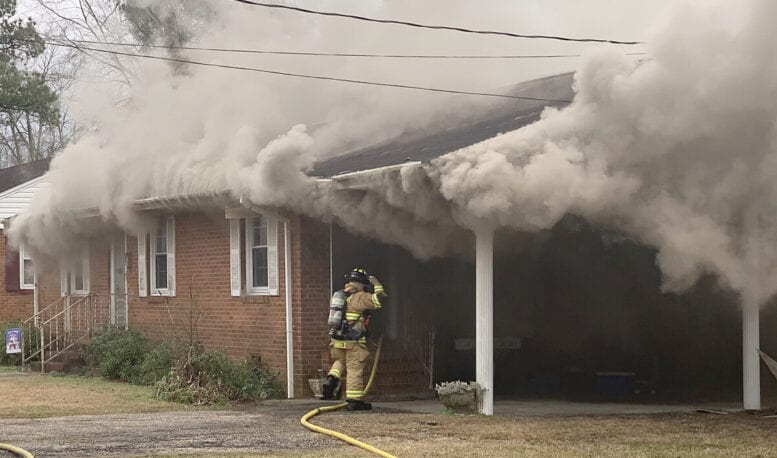 Arson suspected in Whiteville house fire